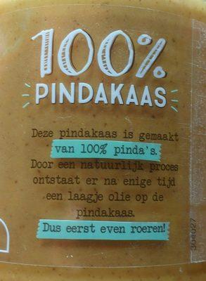 Pindakaas 100% - Ingrediënten