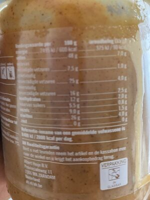 100% Pindakaas naturel - Informations nutritionnelles - fr