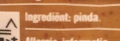 100% Pindakaas Met Stukjes Pot 350 Gram - Ingrediënten