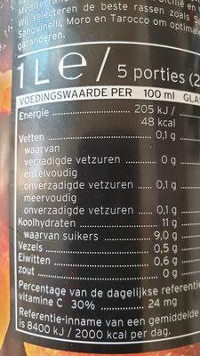 Bkoedsinaasappelsap - Nutrition facts - nl