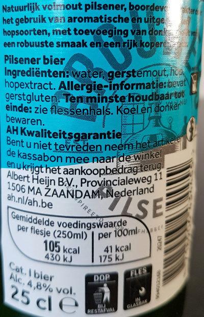 Brouwers Premium Pilsener - Voedingswaarden