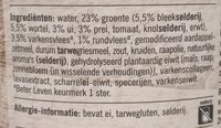 Gevulde Groente Soep - Ingrediënten - nl
