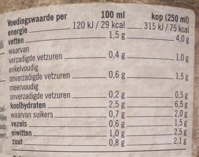 Gevulde Groente Soep - Voedingswaarden - nl