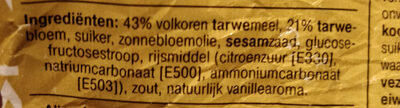 Biscuits met volkoren - Ingredients - nl
