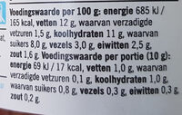 Tapenade tomaat zongedroogd - Nutrition facts - nl