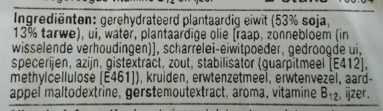 Vegetarische Burger Deluxe - Ingredients - nl