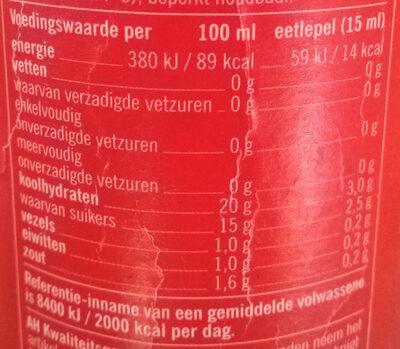Classic Ketchup Knijpfles - Voedingswaarden - nl