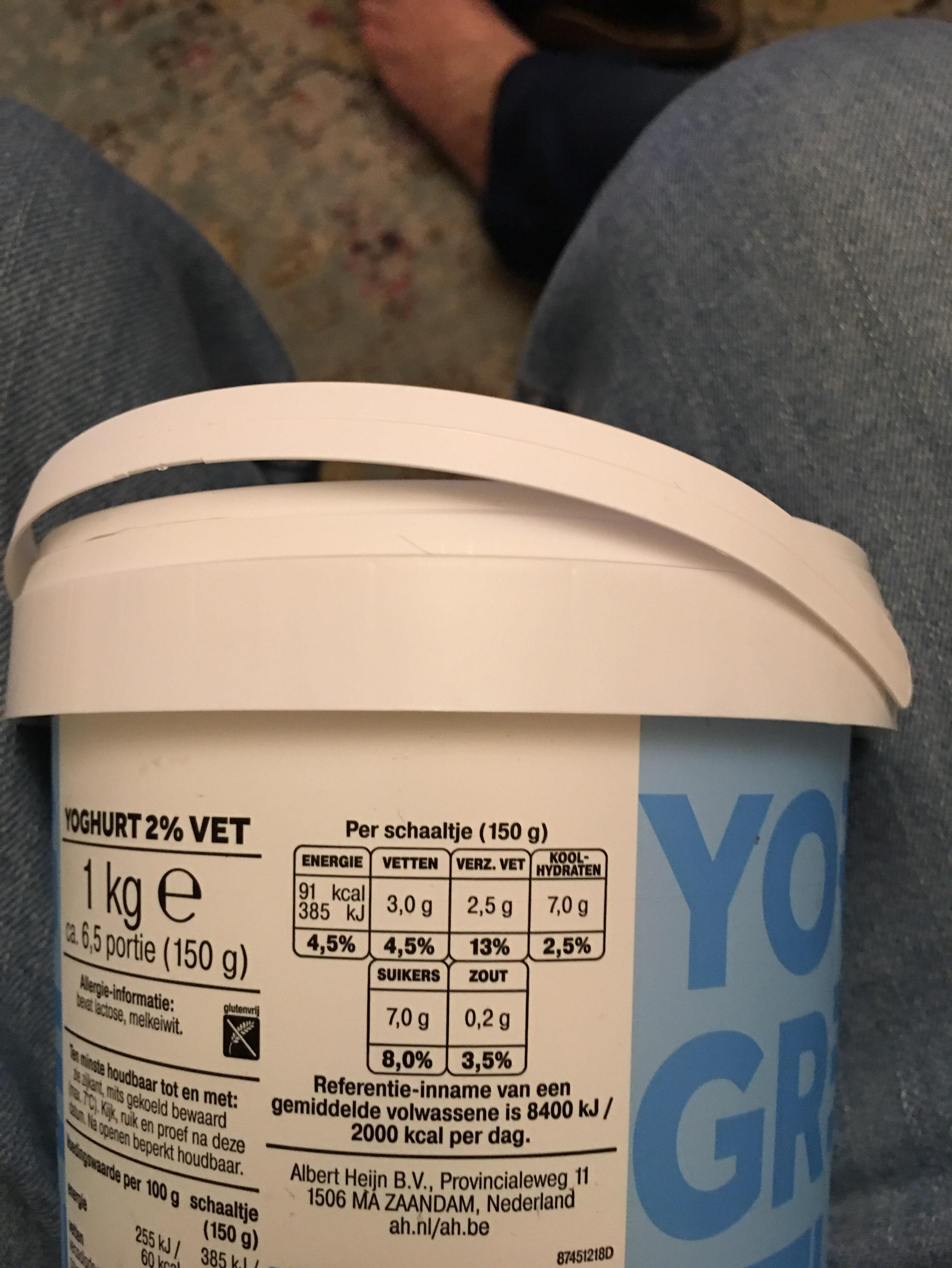 De zaanse hoeve yogurt griekse stijl 2% vet - Ingrediënten - nl