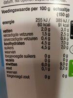 De zaanse hoeve yogurt griekse stijl 2% vet - Voedingswaarden - en
