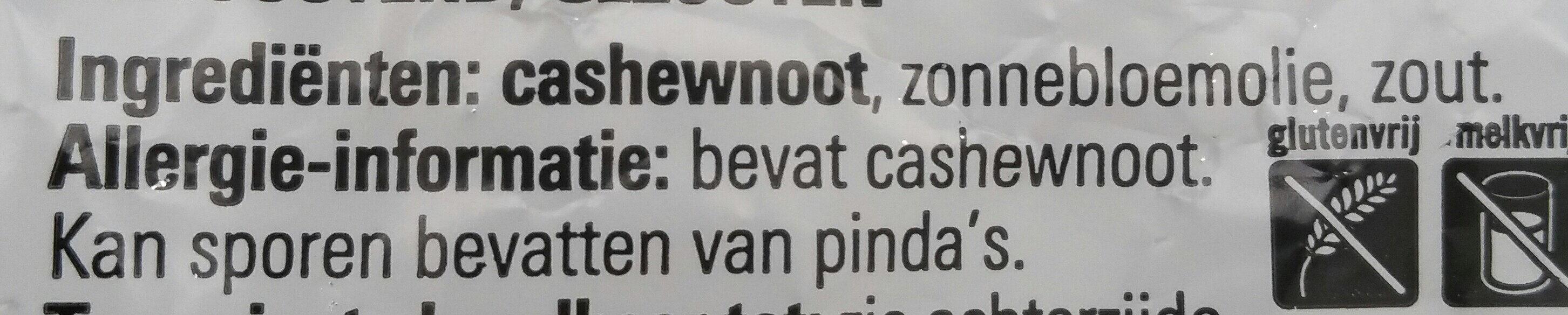 Gezouten Cashewnoten - Ingrédients - nl