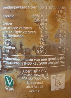 Manteca de cacahuete - Nutrition facts - nl