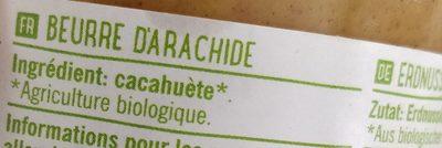100% pindakaas naturel - Ingrédients - fr
