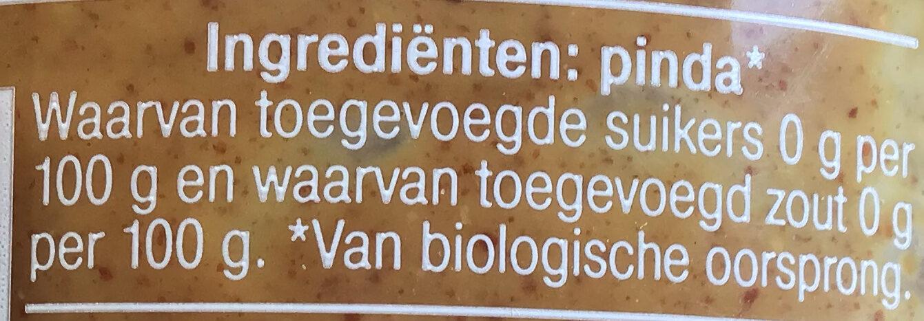 100% pindakaas naturel - Ingredients - nl