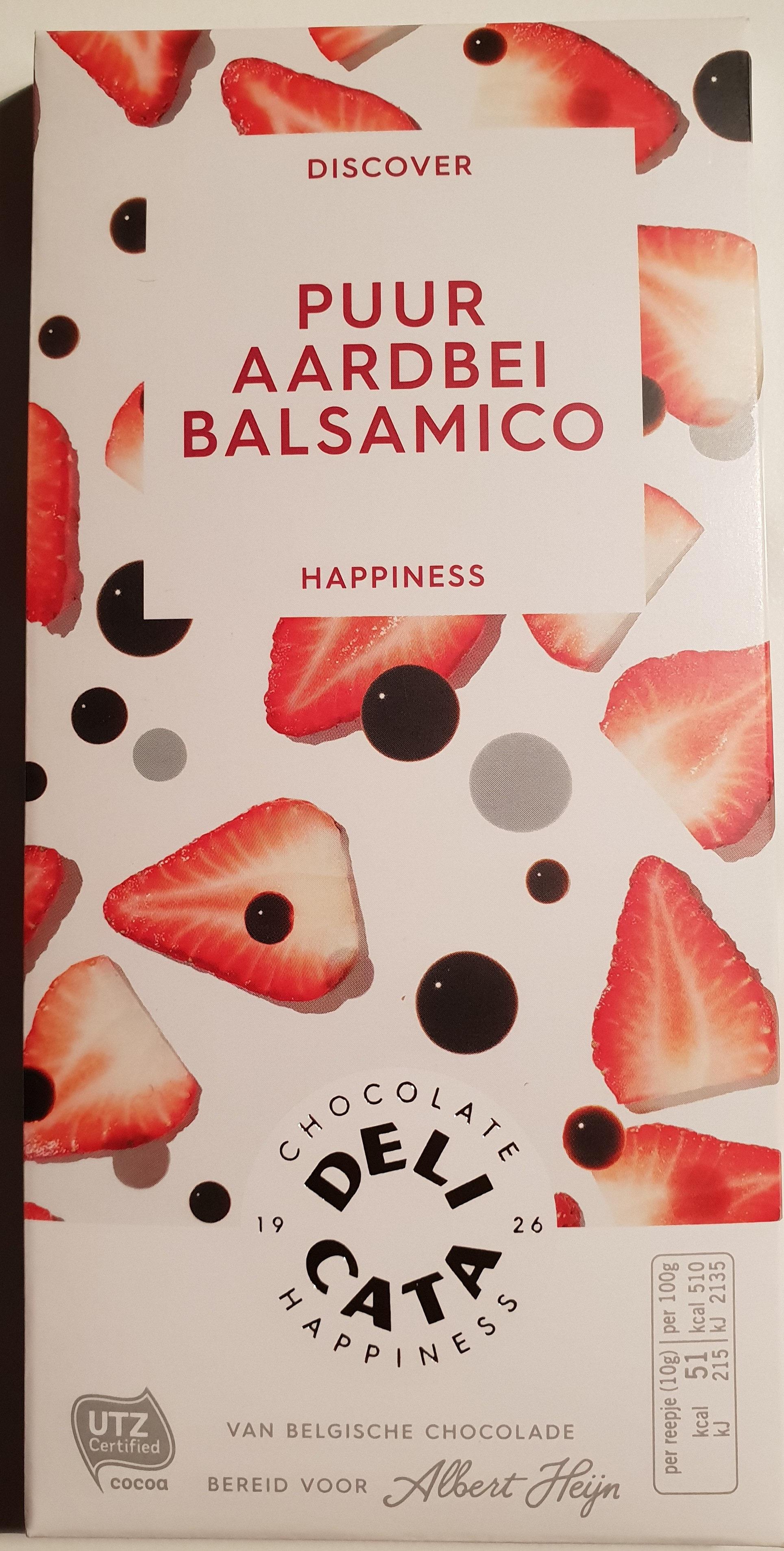 Delicata pure chocolade met aardbei en balsamico - Product - nl