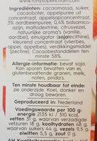 Delicata pure chocolade met aardbei en balsamico - Voedingswaarden