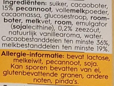 Melk pekan karamel zeezoul - Ingrediënten