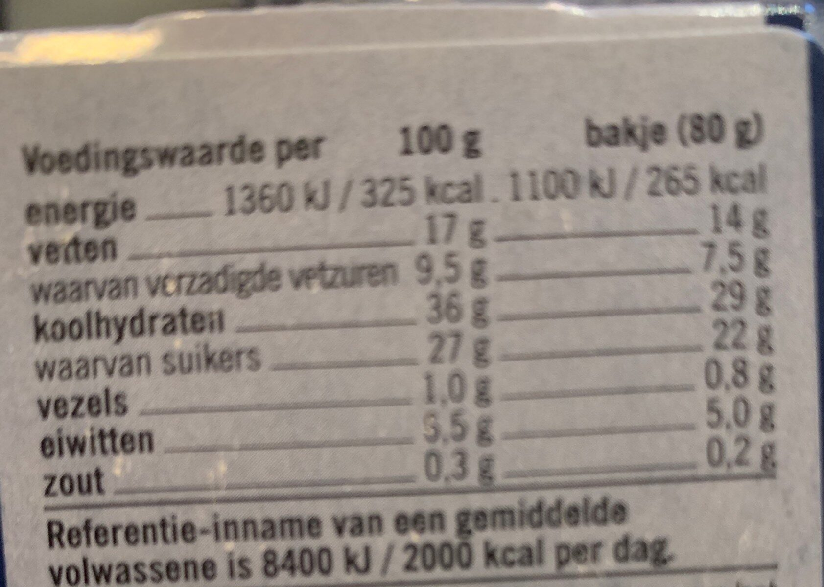 Cheese Cake - Nutrition facts