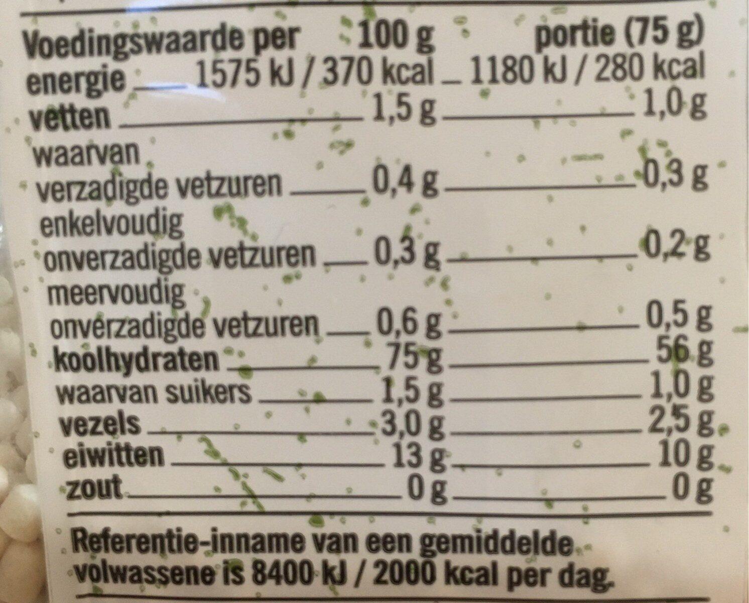 Parel couscous - Nutrition facts - en