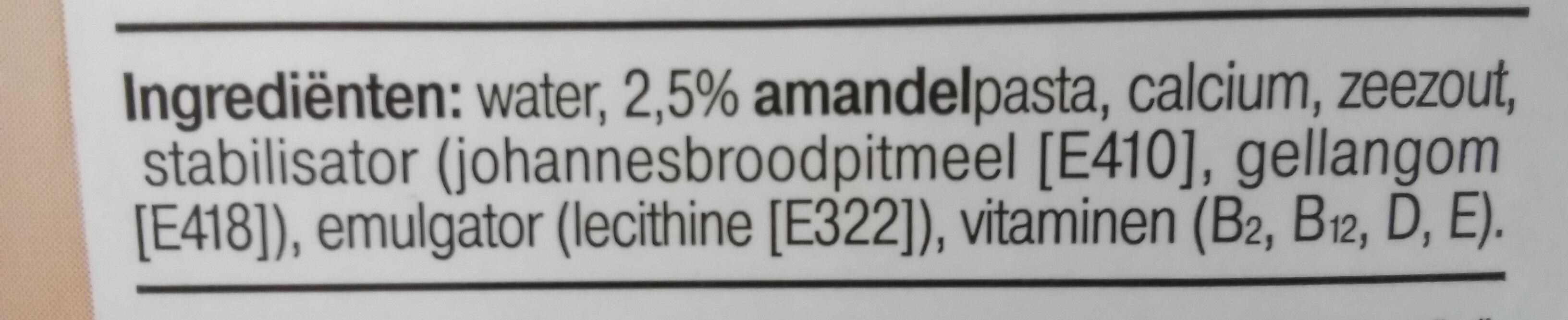 Amandel drink ongezoet - Ingredients - en