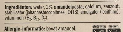 Amandel drink - ongezoet - Ingrédients - fr