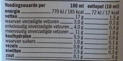 Soja Keuken - Voedingswaarden