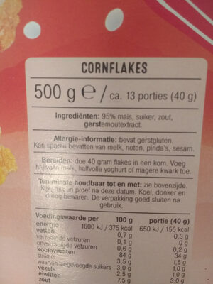 Cornflakes - Ingrediënten