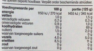 Biologische Linguine Integrali - Voedingswaarden - nl