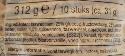 Roomboter Karamel Stroopwafel - Ingrediënten - nl
