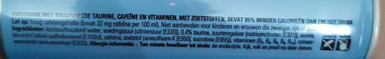 Energy drink sugarfeee - Ingrediënten - nl