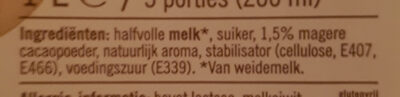 chocolade melk halfvolle - Ingrediënten - nl