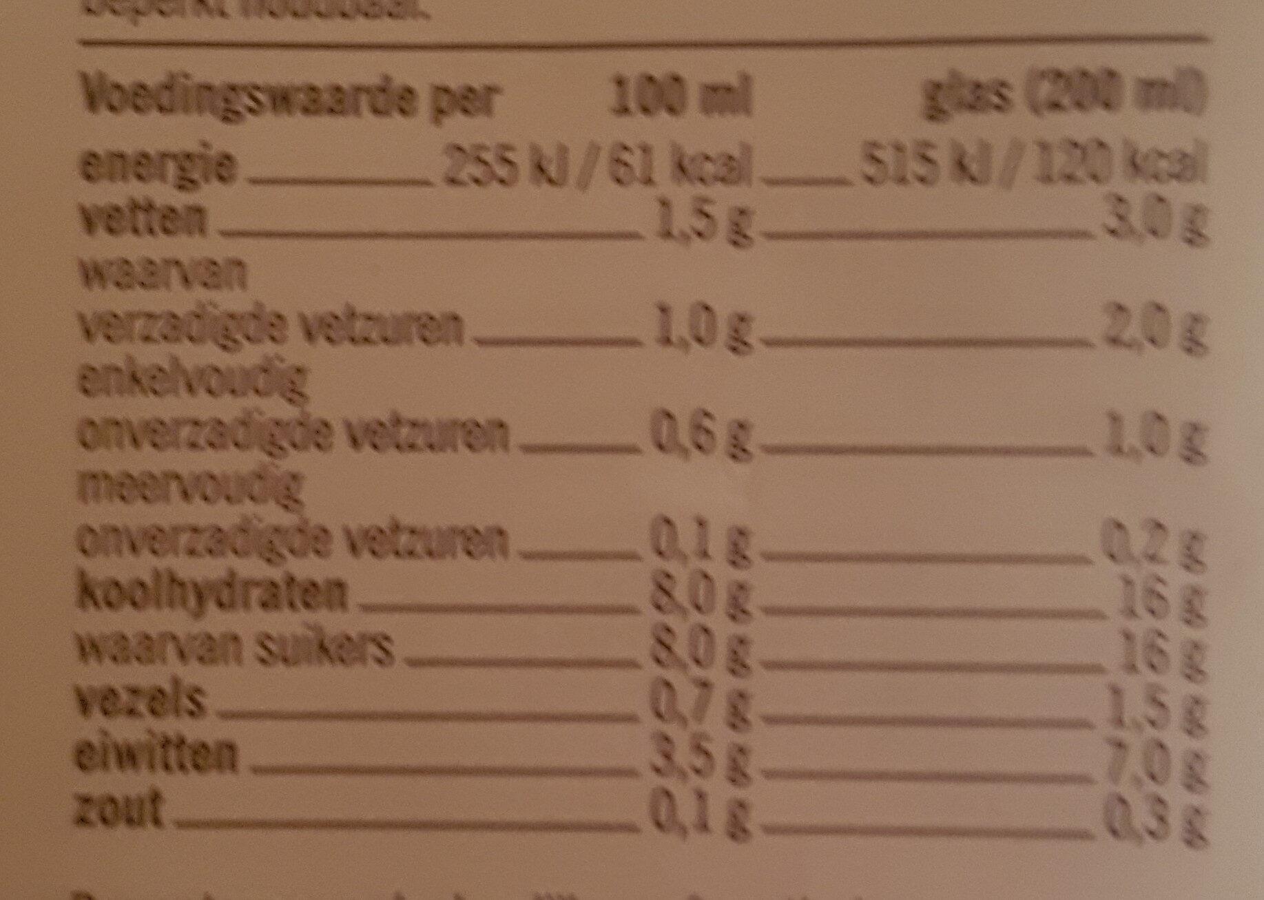 chocolade melk halfvolle - Voedingswaarden - nl