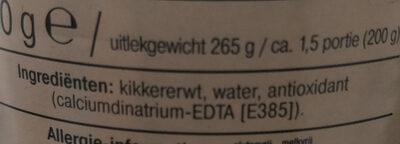 Kikkererwten - Ingrediënten - nl