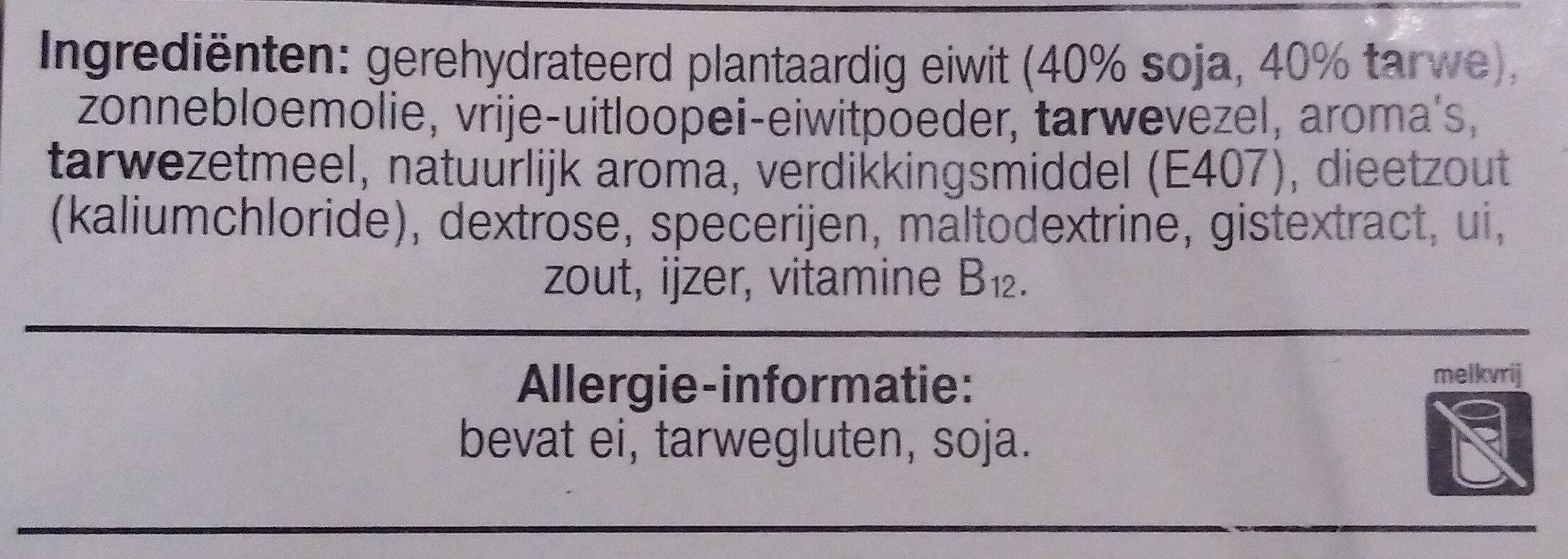 vegetarische basis wokstukjes - Ingrediënten