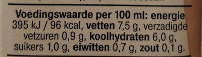 Haver Keuken - Nutrition facts - nl