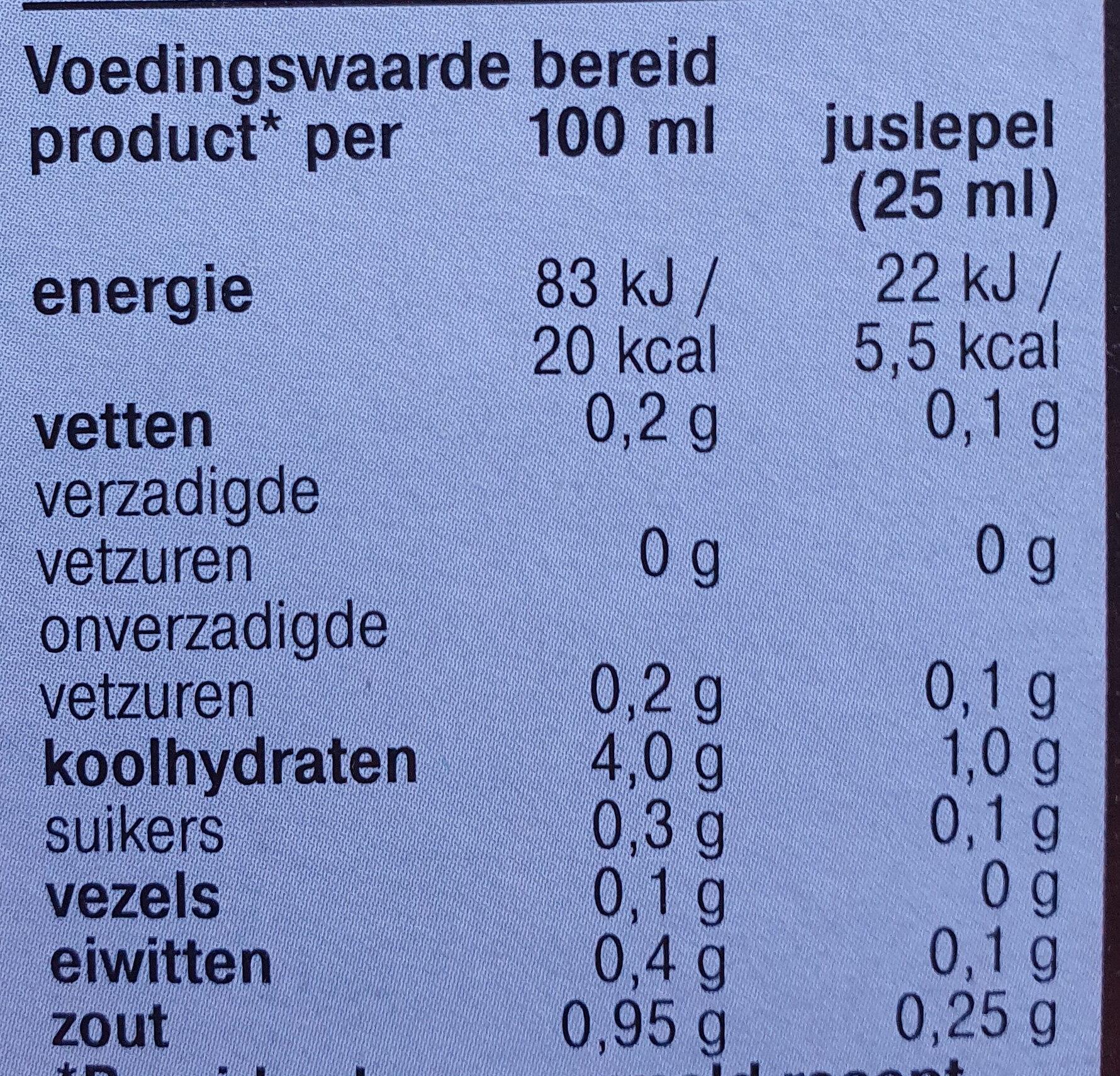 Krachtige jus Light - Voedingswaarden - nl