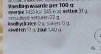 roombrie 60+ - Voedingswaarden - nl