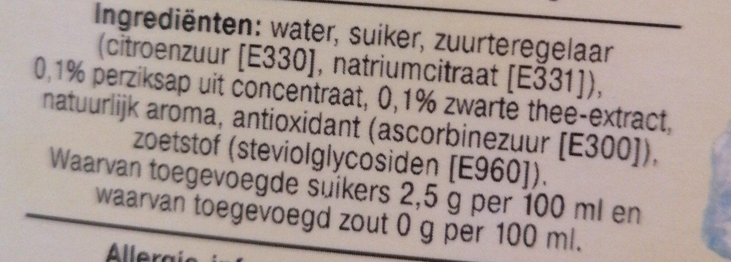 Ice tea - Ingredients - en