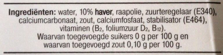 Barista haver - Ingrediënten - nl