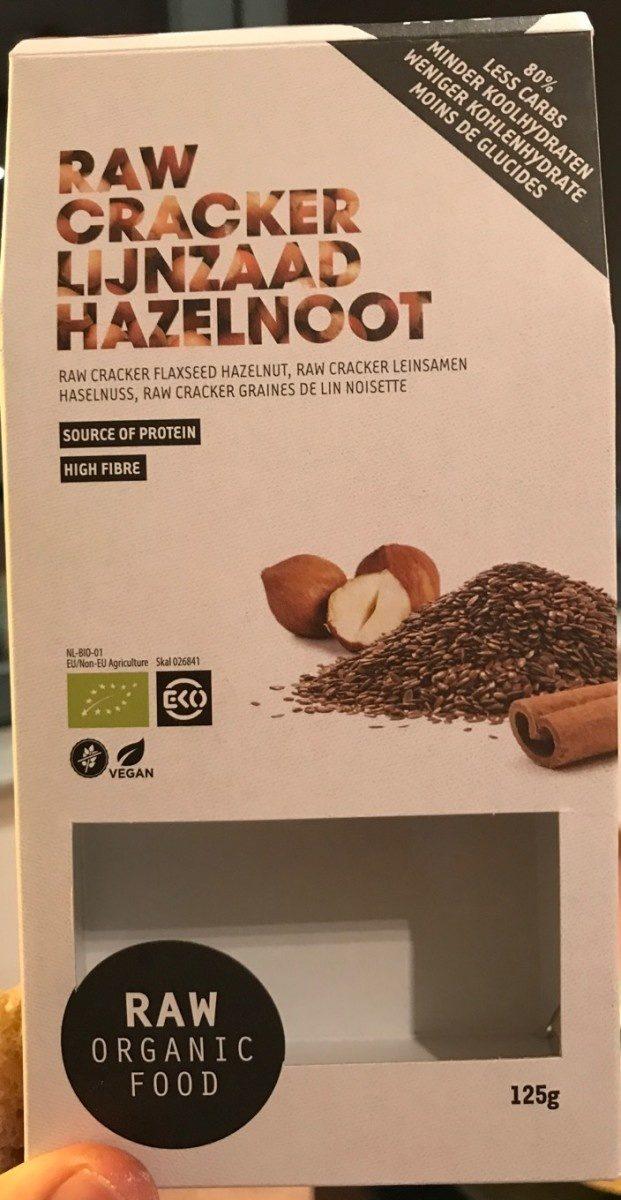 Raw Cracker Lijnzaad Hazelnood - Produit - fr
