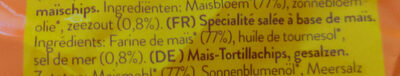 Natural corn chips - Ingredients - fr