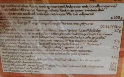 Extra fiber tortilla wraps - Voedingswaarden