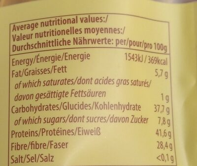 Soya beam a - Nutrition facts - nl