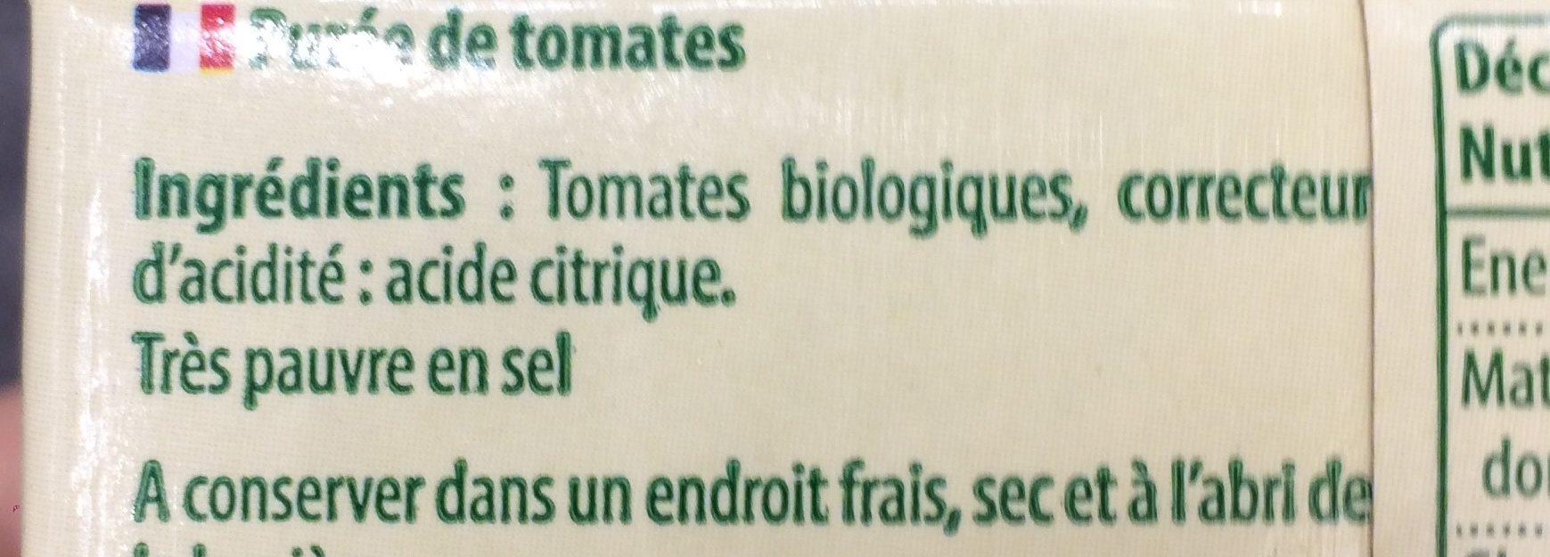 Passata nature - Ingrédients - fr