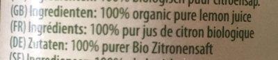 Succo di limone - Ingredients - fr