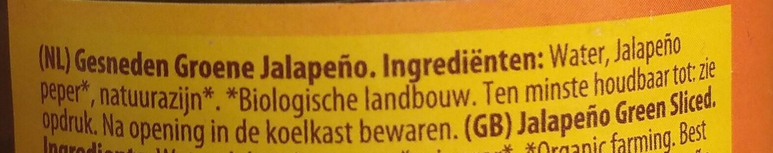 Jalapeños - Ingrediënten - nl