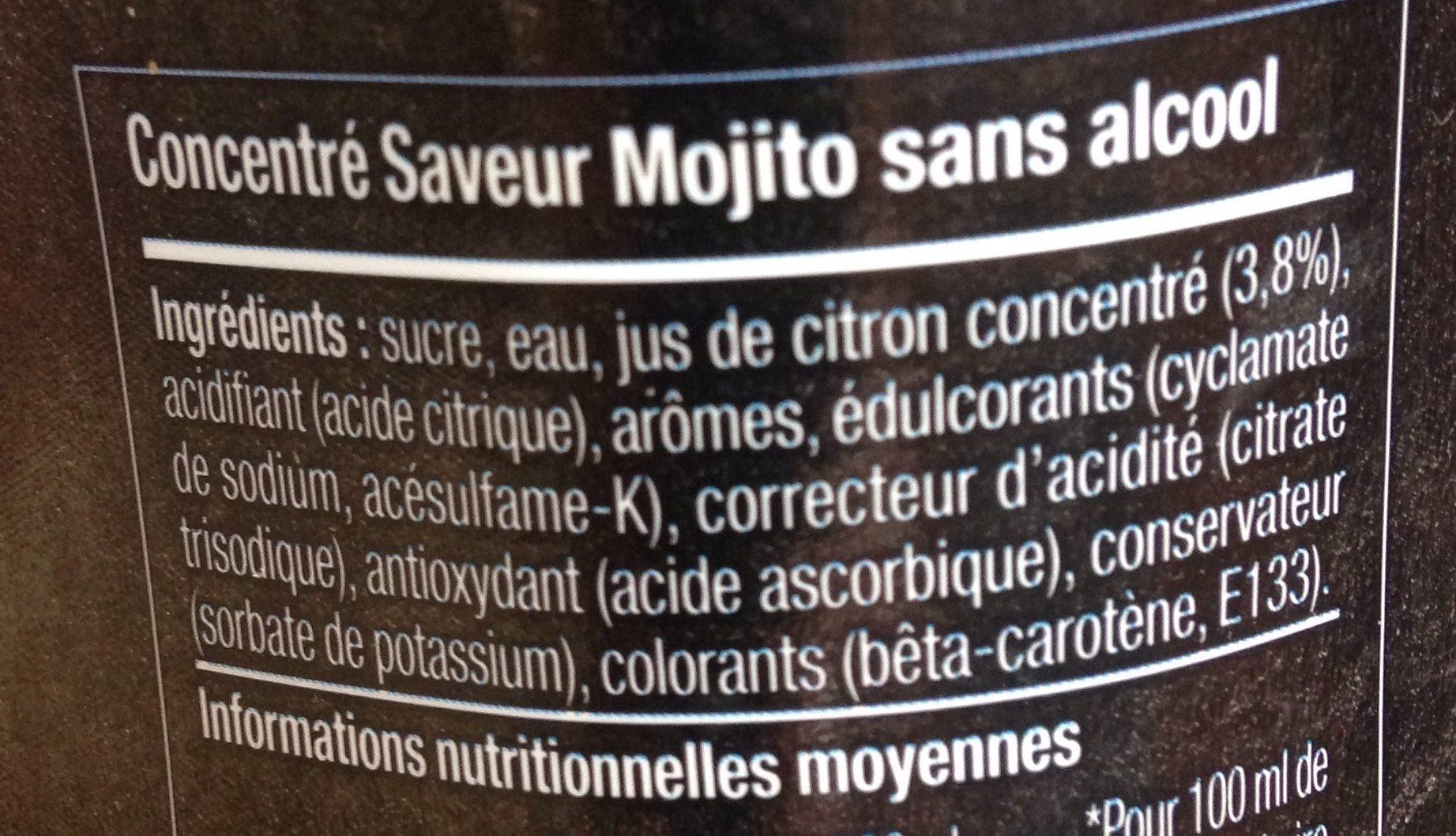 Sodastream Mojito - Ingrédients