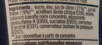 Saveur pink mojito - Ingrédients - fr