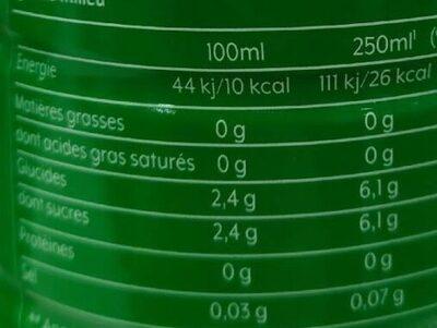 Concentré 7 up - Informations nutritionnelles - fr