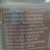 Energy ohne Zucker - Informations nutritionnelles - de