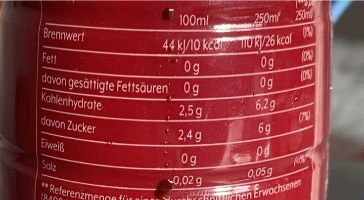 Cola & Orange - Informations nutritionnelles - de